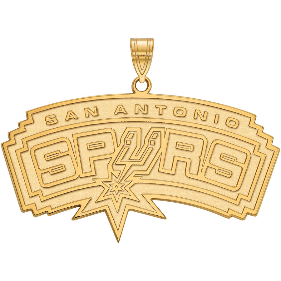 LogoArt NBA San Antonio Spurs 10kt Yellow Gold Extra Large Pendant