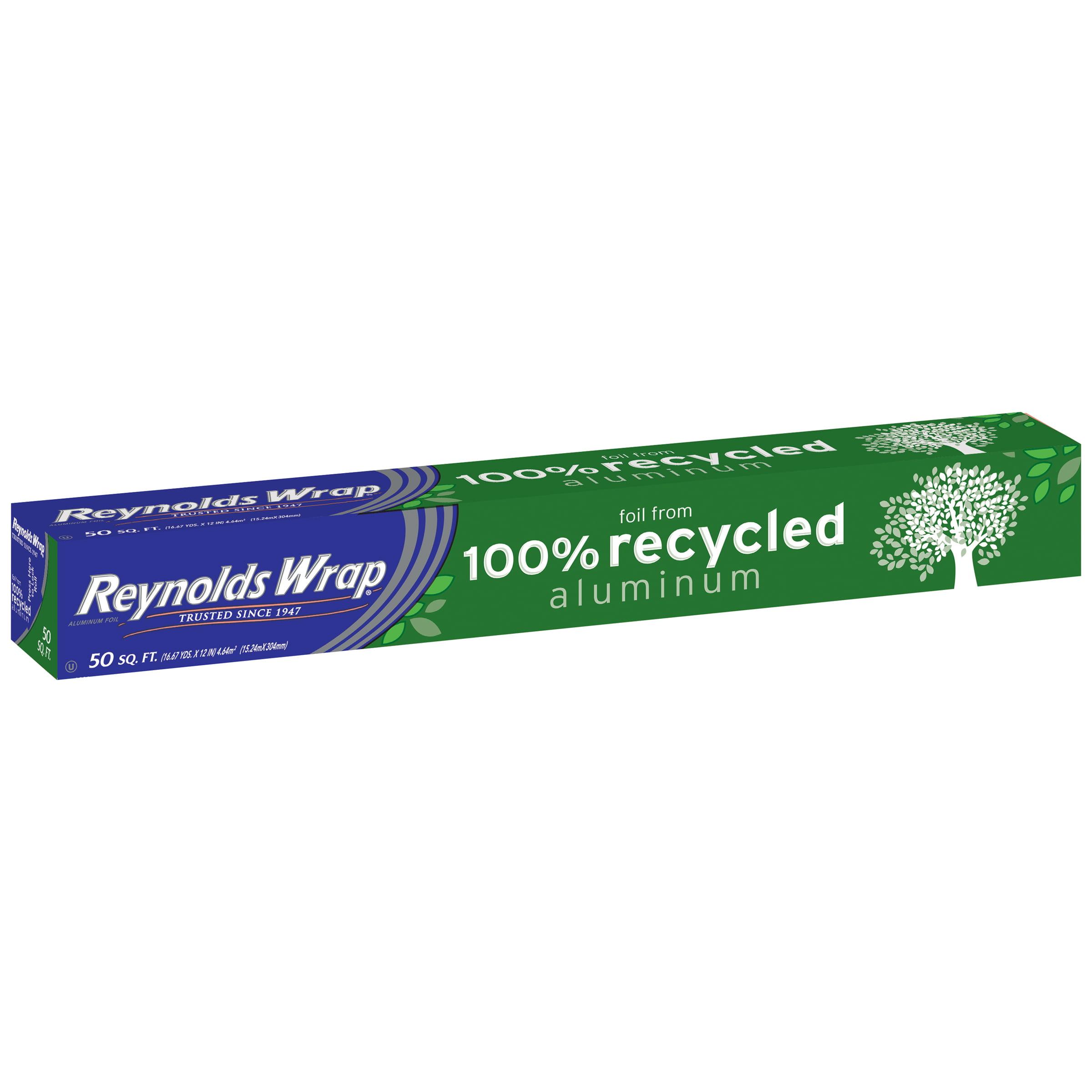 Reynolds Wrap® 100% Recycled Aluminum Foil 50 sq. ft. Box