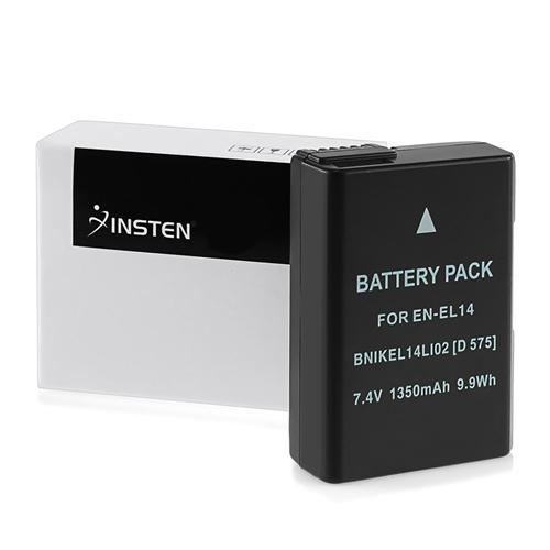 Insten EN-EL14a EN-EL14 Battery For Nikon D-Series D3100 D3200 D3400 D5100 D5200 D5300 D5500   CoolPix P7800 P7700 P7100... by Insten