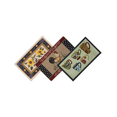 Bacova Guild 16030 22 x 40-Inch Berber Rug Assortment - Quantity 6