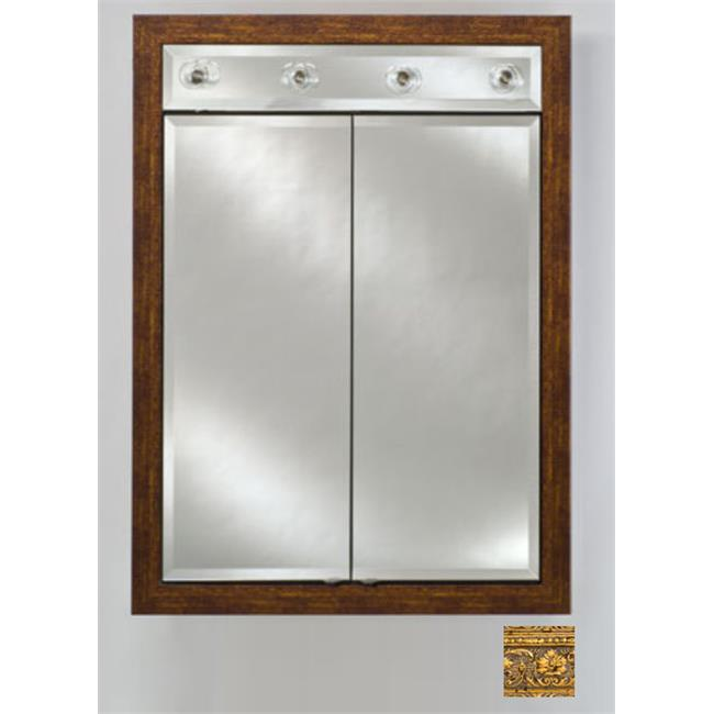 Afina Corporation DD-LC3140RREGGD 31x40 Contemporary Integral Lighted Double Door - Regal Gold - image 1 de 1