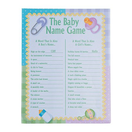 Simple Baby Shower Games (Baby Shower Baby Name Game - 24)