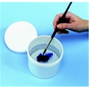 School Specialty Plastic Brush Cleaning Screen Container, 4 x 4. 5 inch