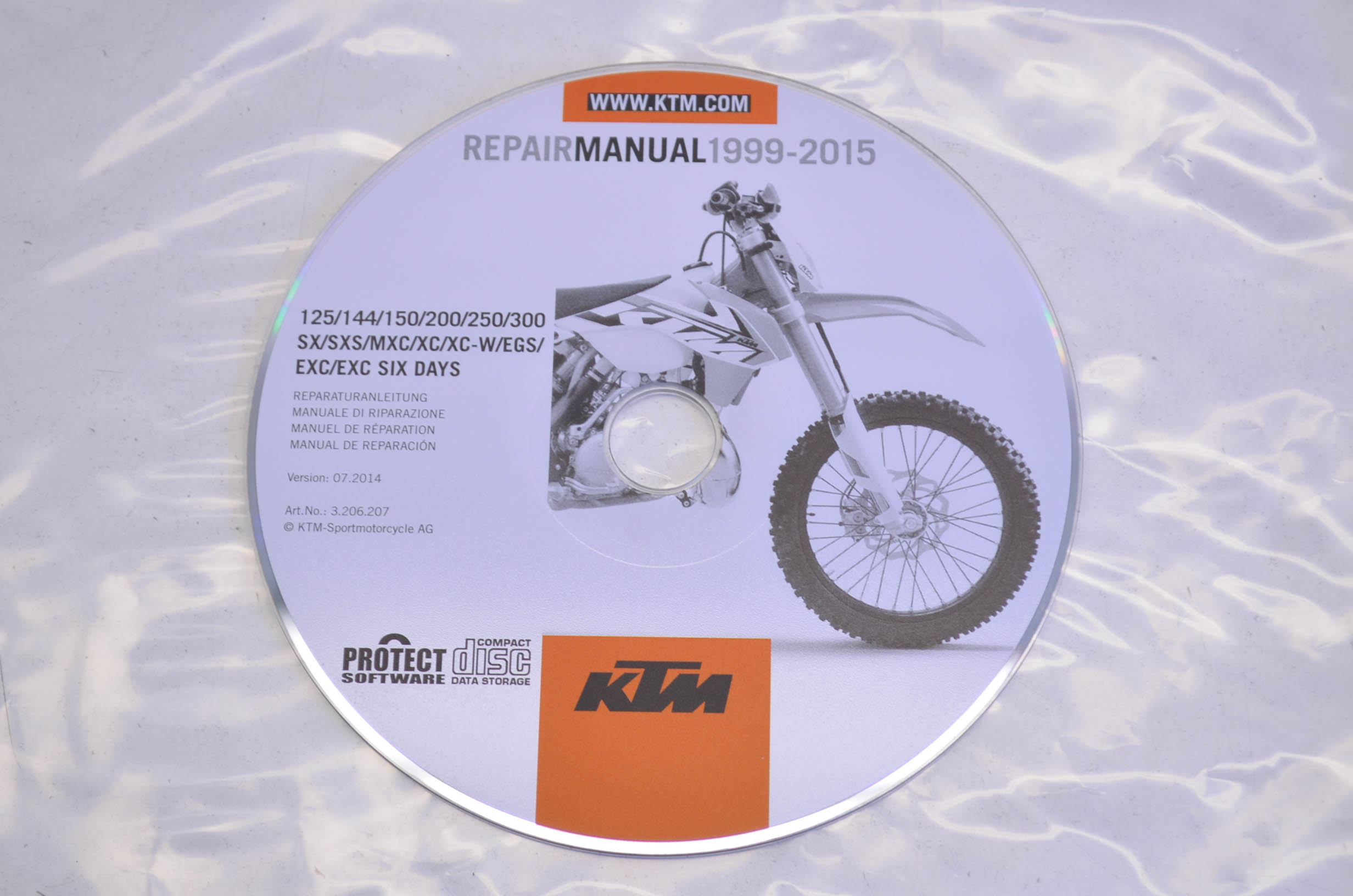 KTM 3206207 1999-2015 125-300 SX/SXS/MXC/XC/W/EGS/EXC/EXC SIX DAYS Repair  Manual CD Disc QTY 1 - Walmart.com