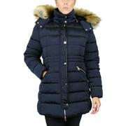 Women's Heavyweight Parka Jacket With Detachable Fur Hood (S-3XL)