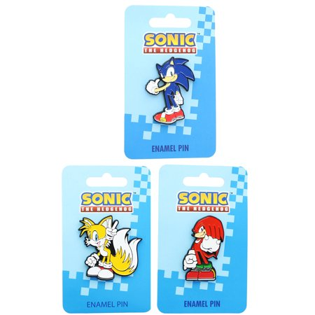 Sonic the Hedgehog Enamel Collector Pin Set of 3: Sonic, Tails, Knuckles