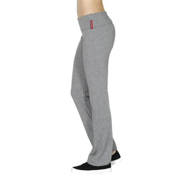 Thelovely Women Foldover Yoga Athletic Flare Bottom Sweat Pants Walmart Com Walmart Com