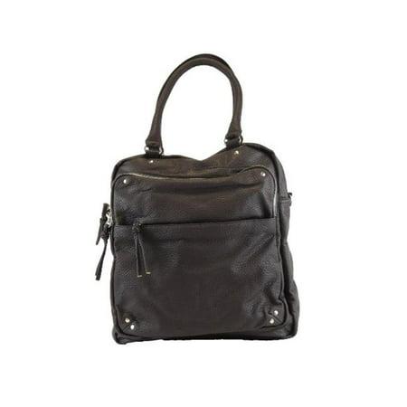65f419425ca Bebe Rose BH501-BLK Faux Leather Handbag Tote, Black - image 1 of 1 ...