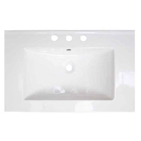 American Fibertek Single - American Imaginations Roxy Ceramic 24'' Single Bathroom Vanity Top