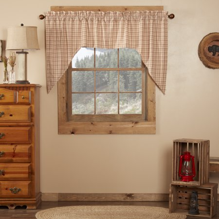 Creme White Rustic Kitchen Curtains Durango Rod Pocket ...