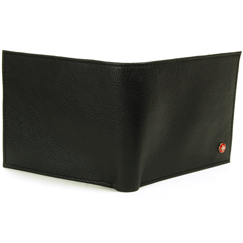 Mens Leather Wallet Zipper Coin Pocket 2 Billfold Multi Card Bifold