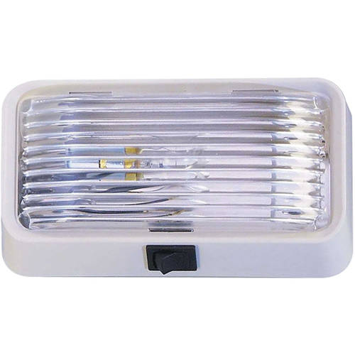 Clear with White Base Bargman 34-78-517 Porch Light #78