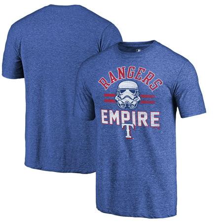 Texas Rangers Fanatics Branded MLB Star Wars Empire Tri-Blend T-Shirt - Royal