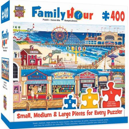 Family Hour Ocean Park Large 400 Piece EZGrip Jigsaw Puzzle by Art Poulin (Ocean Park Halloween 2017 Hours)