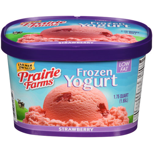 Prairie Farms Strawberry Frozen Yogurt, 1.75 qt