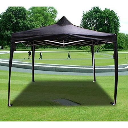 New MTN-G Deluxe Black EZ Canopy Pop Up Tent 10 X 10' Gazebo &