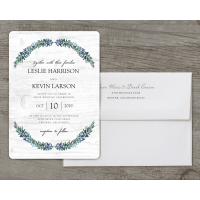Personalized Wedding Invitation - Rustic Romance - 5 x 7 Flat Deluxe