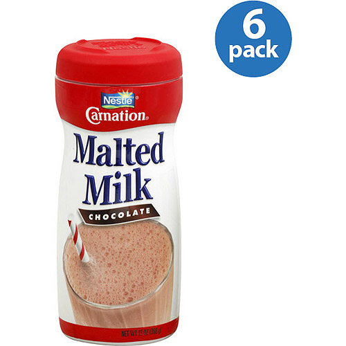 Carnation Chocolate Malted Milk, 13 oz, (Pack of 6)