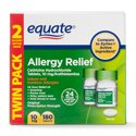 2-Pk.Equate Relief Cetirizine Antihistamine Tablets,10 mg, 90 Ct