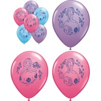 """Set of 6 Sofia The First 12"""" Assorted Color Balloons"""