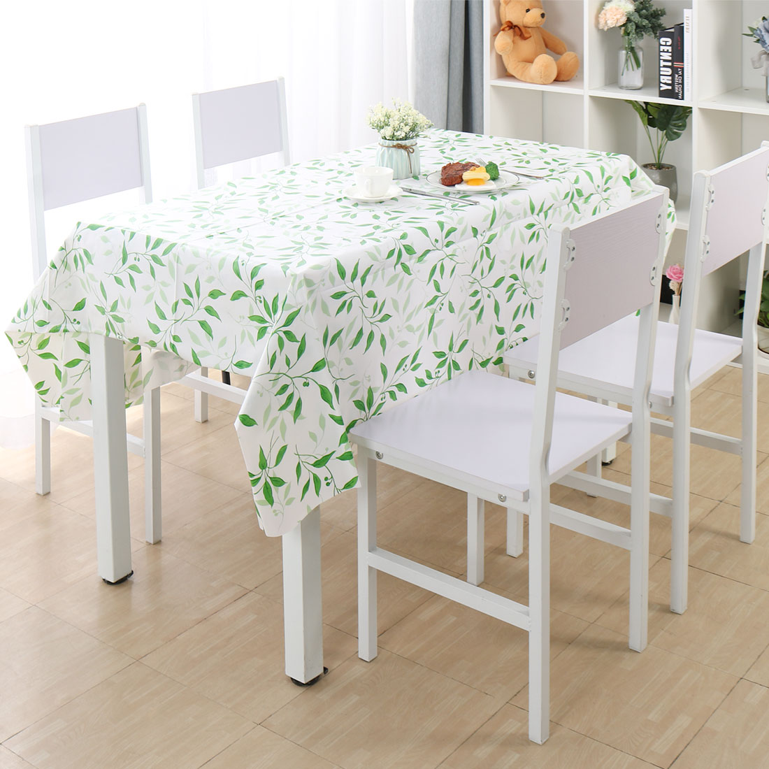 EGGSHELL  STAG  VINYL WIPE CLEAN PVC TABLECLOTH