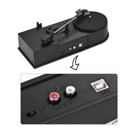 Mini USB Stereo Turntable Vinyl Record Player 2-Speed(33/45 RPM) MP3