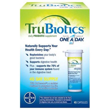 TRUBIOTICS ™ Daily Supplément probiotique Capsules 45 ct Boîte