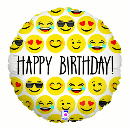 Emoji Birthday 18 Balloon