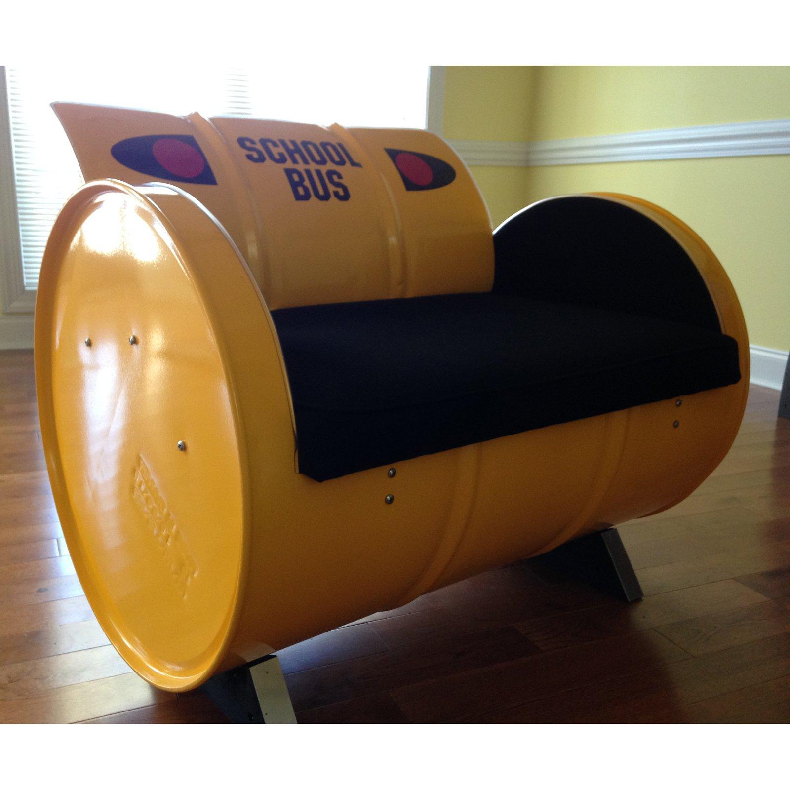 Drum Works Furniture School Bus Bench With Storage