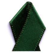 Papilion R074400230587100Y .88 in. Double-Face Satin Ribbon 100 Yards - Forest Green