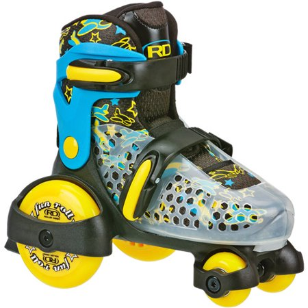 Roller Derby® Boys Fun Roll Quad Skates - Blue/Yellow S (7-11)