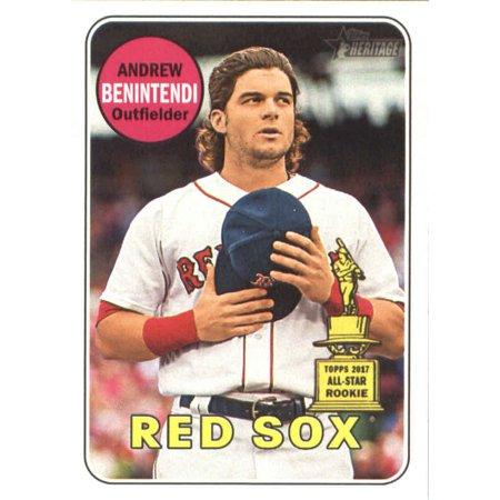- 2018 Topps Heritage #130 Andrew Benintendi Boston Red Sox Baseball Card