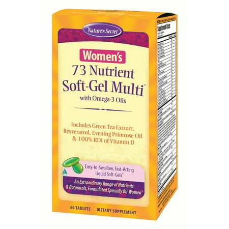 Nature's Secret Women's 73 Nutrient Soft-Gel Multivitamin, 60 Ct