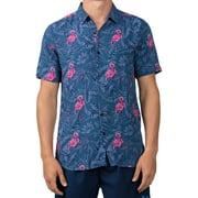 Endless Summer Men's Flamingo Short Sleeve Swim Shirt, up to Size 2XL