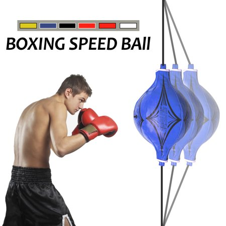 Double End PU leather MMA Boxing Training Ball Speed Pouching Bag Gym  Striking Bag Exercise Reflex Tool