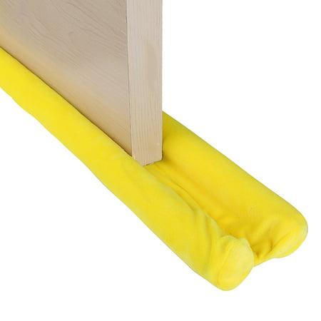 Double Door Draft Stopper Adjustable 32 to 38 Inches,Sound Proof Reduce Noise Keeping Warm in and Cold Out, Heavy Duty Efficient Door Sweep by SWISSELITE (Adjustable Door Door Stop)