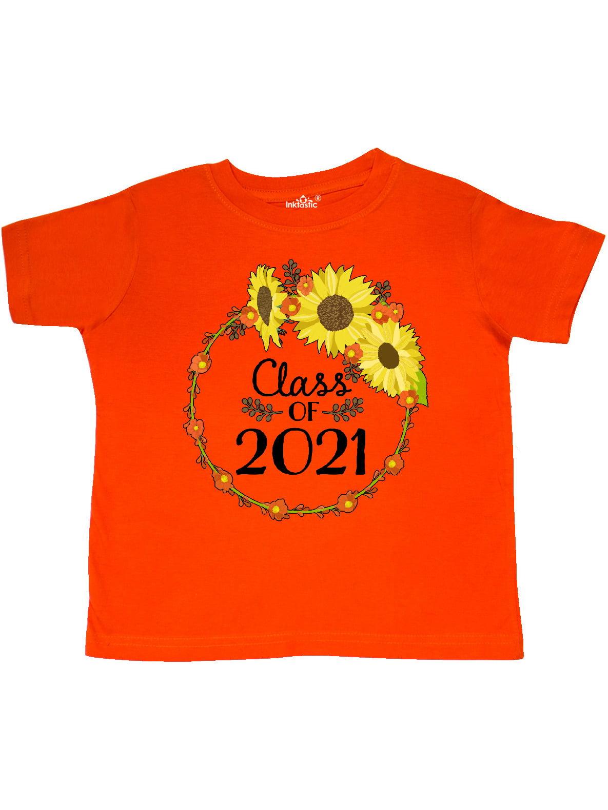 INKtastic - Class of 2021 Sunflower Wreath Toddler T-Shirt ...