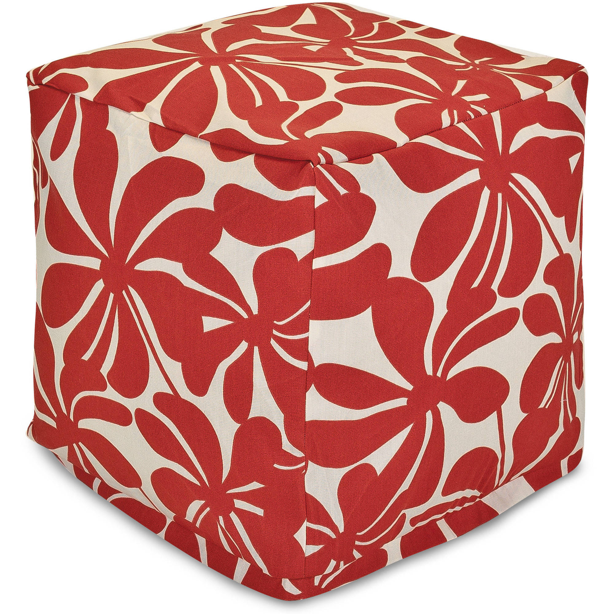 Majestic Home Goods Plantation Bean Bag Cube, Indoor/Outdoor