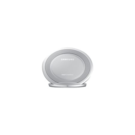 Samsung Qi Certified Fast Charge Wireless Charging Stand W/ AFC Wall Charger - Supports wireless charging on Qi compatible smartphones including the Samsung Galaxy S8, S8+, Note 8, Apple iPhone 8, and 8 Plus (US Version) - Silver
