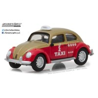 Greenlight 1:64 Club V-Dub 6 VW Beetle Taxi Cab Mexico City Red and Gold