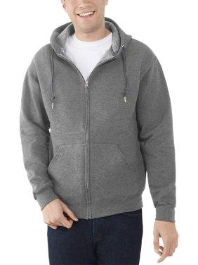 Fruit of the Loom Men's and Big Men's Eversoft Fleece Full Zip Hoodie Jacket, up to Size 3XL