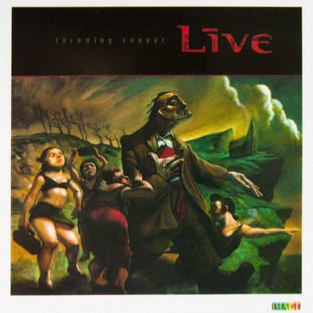 Live - Throwing Copper - Cling-On Sticker - Copper Stickers