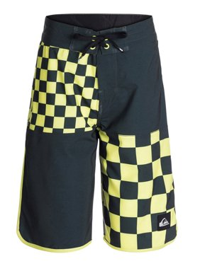 Quiksilver Boys Quad Checkered Swim Bottom Board Shorts