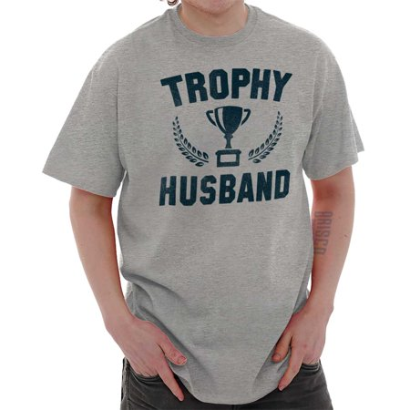 Brisco Brands Trophy Husband Best Dad Gift Mens Short Sleeve