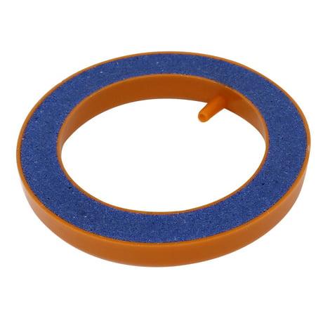 Aquarium Pump Round Hydroponics Diffuser Bubble Airstone Orange Blue 4