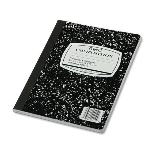 Mead Composition Notebook, Wide Ruled, 100 Sheets, 6 Pack (09910)