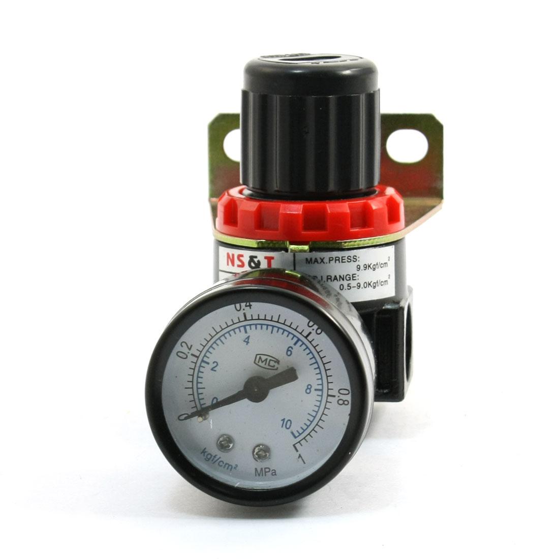 Dual scale dial pressure gauge compressed pneumatic air regulator ar