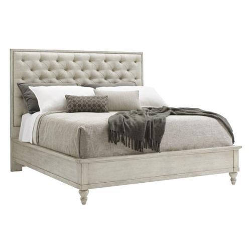 Lexington Oyster Bay Sag Harbor King Upholstered Bed in Silverlake