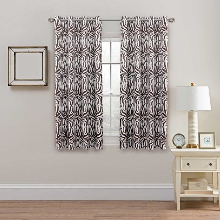 H Versailtex Blackout Curtains For Living Room Bedroom Thermal Insulated Printed Window Panel D Grommet Zebra Stripe Brown Pattern
