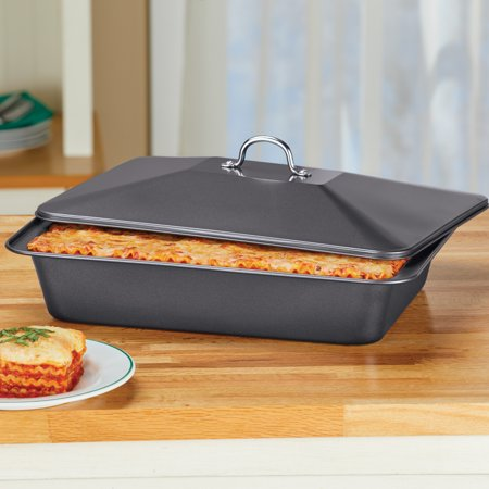 Non-Stick Baking Dish with Matching Lid - Dishwasher Safe Kitchen Pan Dishwasher Safe Non Stick Casserole